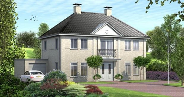 Herenhuis bouwen vdm woningen - Model van huisarchitectuur ...