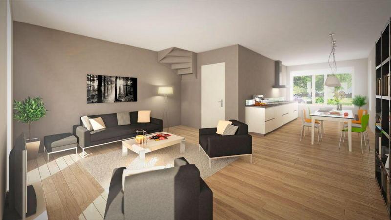 Kleine woonkamer met open keuken inrichten scandinavian deko kitchen diy - Kleine keukenkap ...